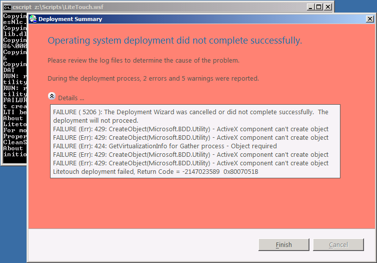 Error message (ActiveX component can't create object) when ...