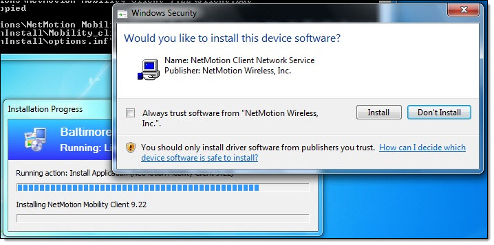 Windows 7 install device driver prompt