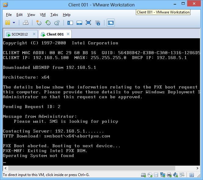 SCCM 2012 SP1 Lab Clients not finding MDT 2012 Boot Image via PXE