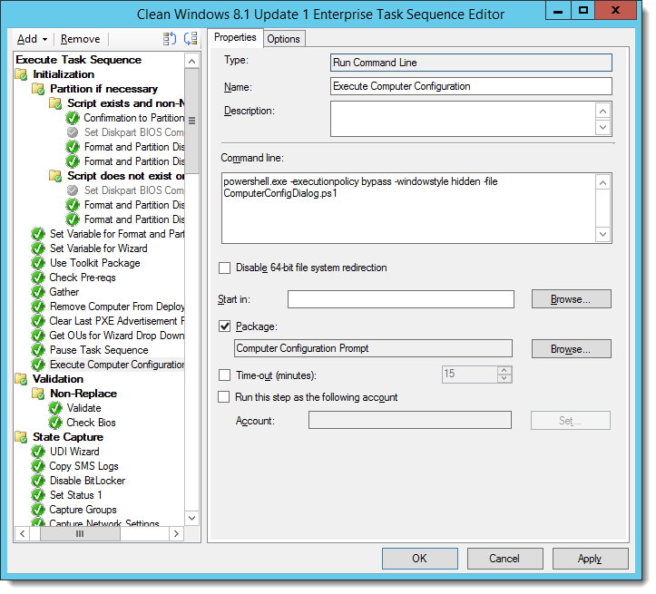 How can I present a dynamic OU Selection prompt for MDT/SCCM
