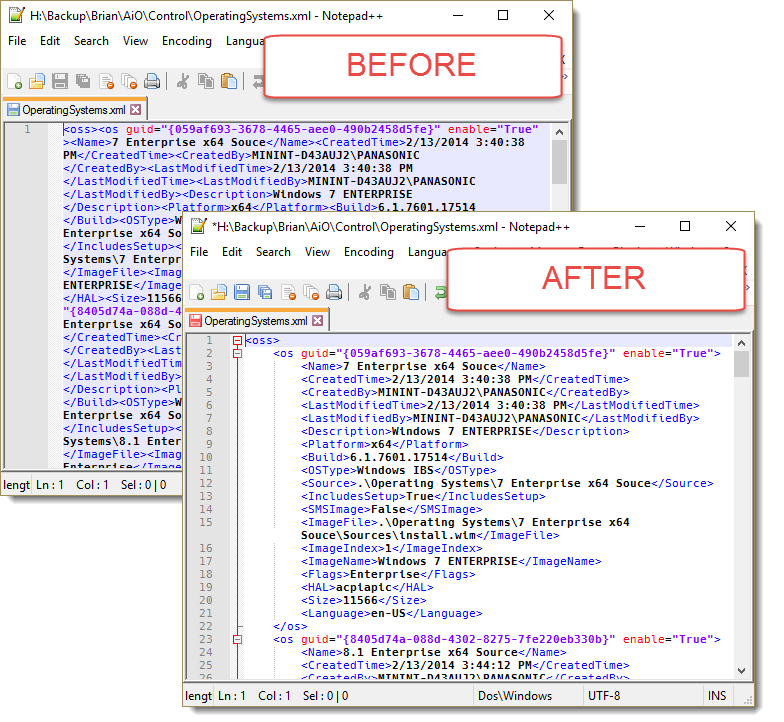 Easy way to clean-up MDT XML files | Support is >Here<