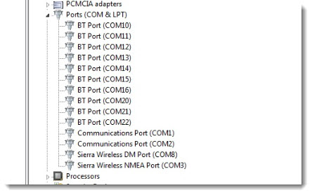 Force a GPS port to a desired Port in Windows.