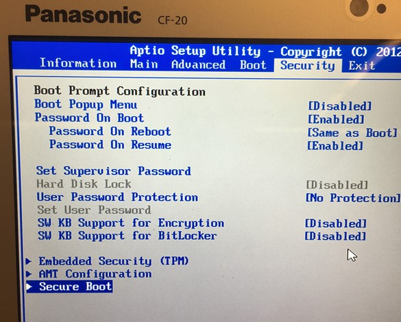 Invalid signature detected  Check Secure Boot state in Setup
